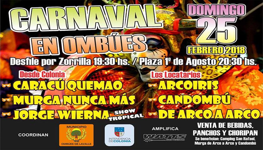 HOY CARNAVAL EN OMBUES!!!
