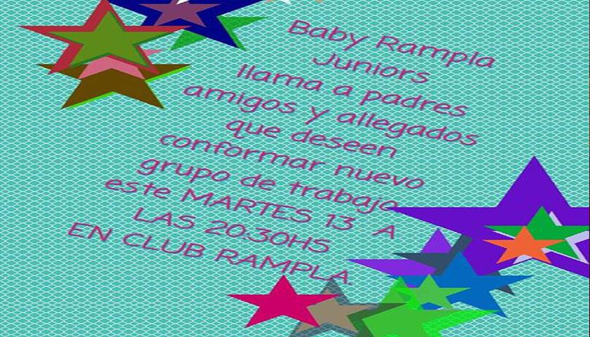 Baby del Club Rampla de Risso llama Padres y amigos a colaborar y armar comisión