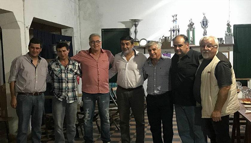 """""""Importante reunión de Larrañaga ajustando detalles de grandes obras para la institución"""""""
