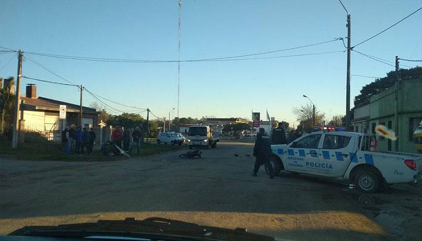 """""""Accidente de tránsito en Ruta 2 Fcio Sánchez en zona urbana"""""""