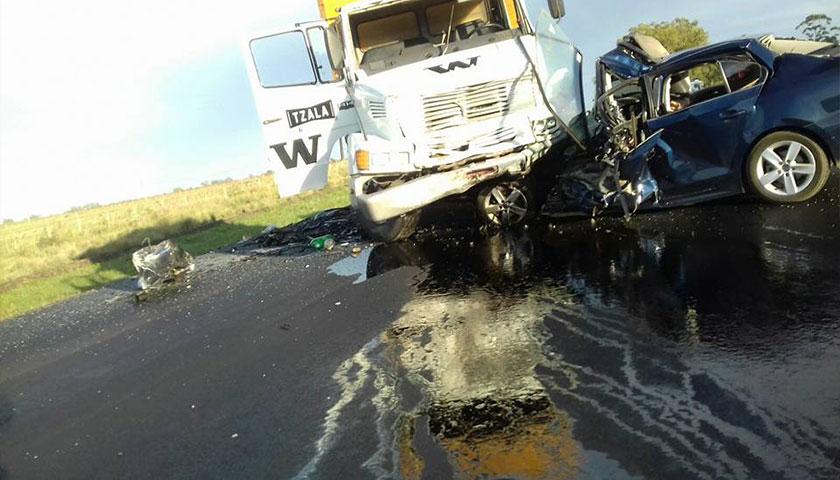 Accidente de tránsito en Ruta 12 Kmts 126
