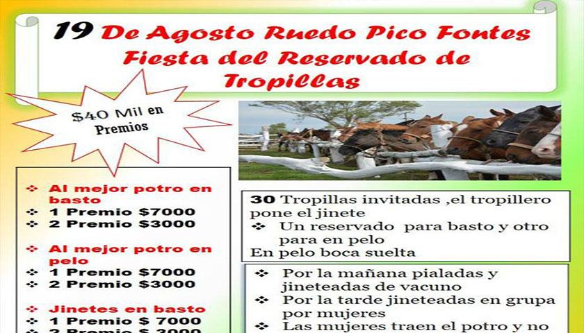 19 DE AGOSTO RUEDO PICO FONTES FIESTA DEL RESERVADO DE TROPILLAS