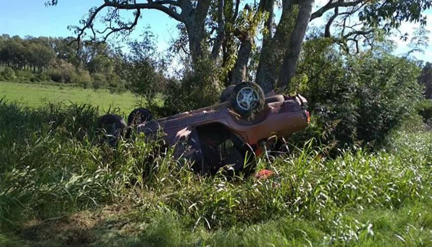 Accidente de tránsito se registró en la mañana de este sábado en los accesos a la ciudad de Mercedes
