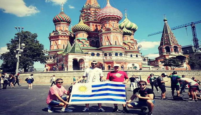 Uruguayos Cardonense en el estadio Rusia 2018