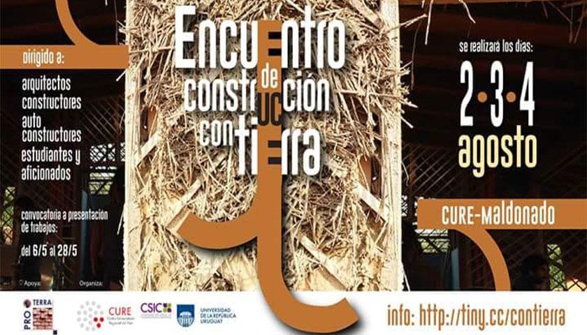 Invitación Encuentro de Construcción con Tierra Arquitecto Cristian Rodríguez Doreste a llevarse a cabo en Maldonado Uruguay