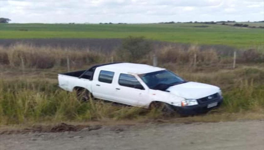Espectacular accidente en el Km 61 de ruta 1