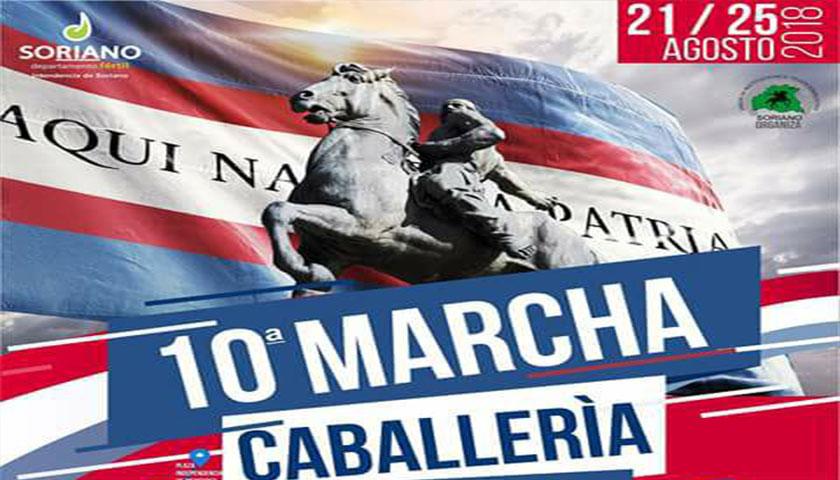 """AVANZA LA 10ª MARCHA DE CABALLERIA """"AQUI NACIO LA PATRIA"""""""