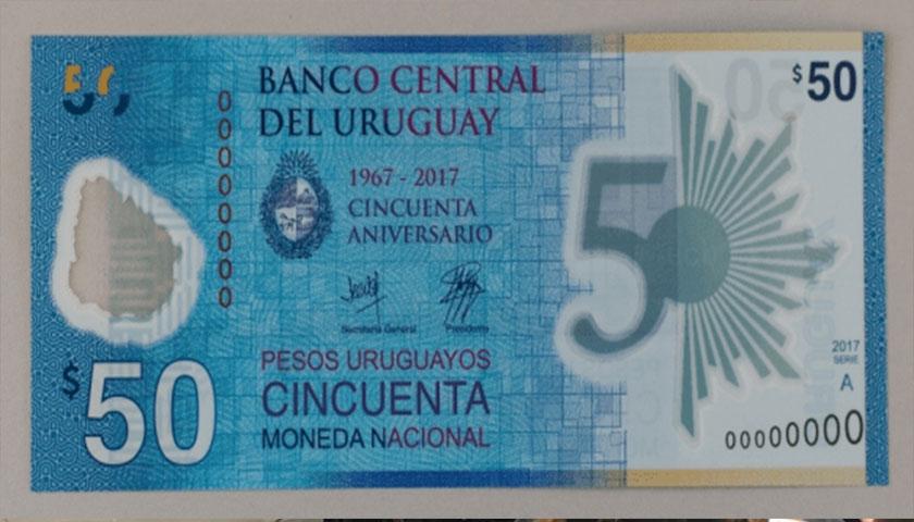 Ya circula el nuevo billete de 50 pesos uruguayos