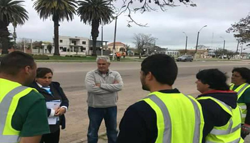 INTENDENTE BASCOU RECORRIO OBRAS Y ACTIVIDADES QUE SE REALIZAN EN ZONA COSTERA DE MERCEDES