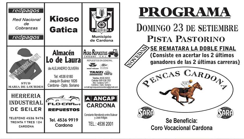 """Domingo 23 de setiembre pista pastorino"""