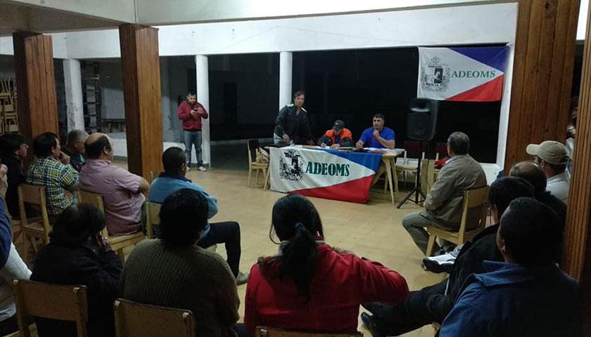 Reunión de integrantes de Adeoms Soriano en el Centro Democrático de Cardona