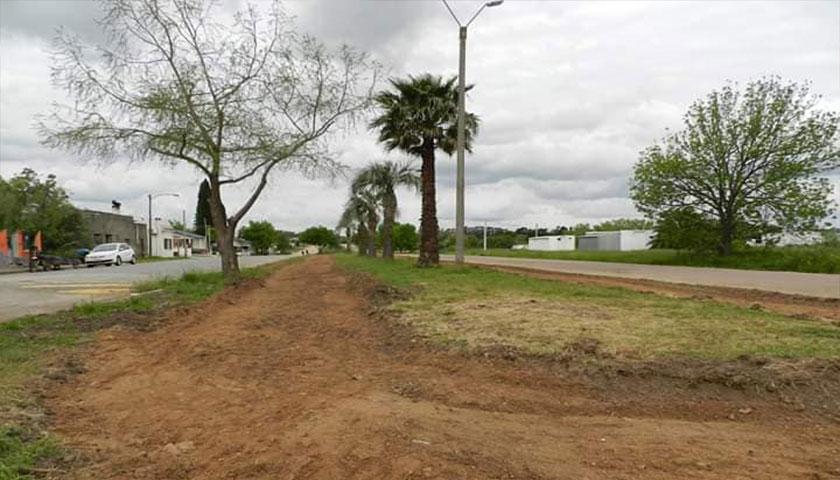 Se están preparando las plazoletas de Boulevard Florencio Sánchez para la construcción de las veredas