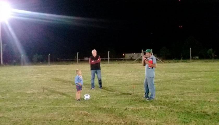 Mini Estadio de Baby Futbol de Rodo ya esta iluminado