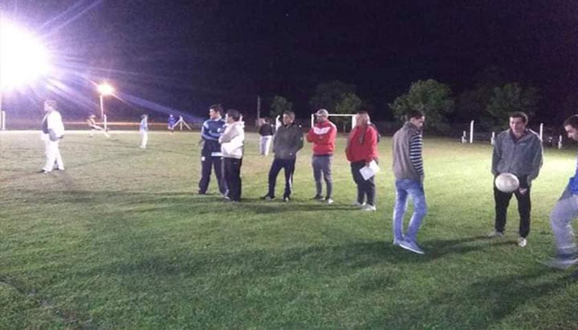 Última clase práctica del curso de Orientador Técnico fútbol infantil