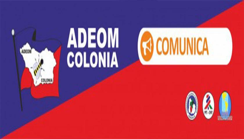 ADEOM Colonia convoca a Asamblea Extraordinaria para el día miércoles 19 de diciembre