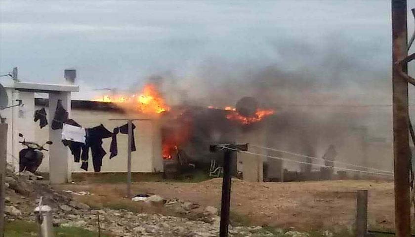 """La familia de Alejandro Silva y María Machado sufrió un incendio en su casa de Mevir Florencio Sanchez """"necesita el apoyo y colaboración de todos"""""""