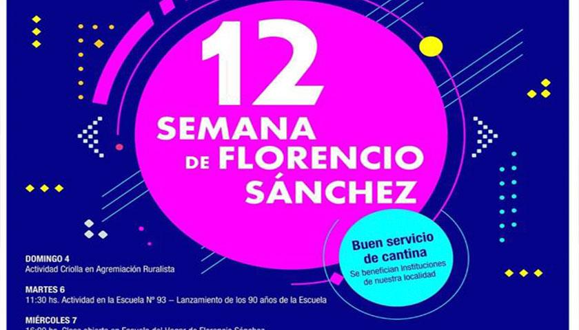 Semana de Florencio Sánchez Grilla de Eventos!!