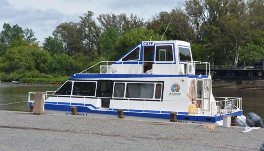 """Presentan mejoras en el catamarán """"Soriano I"""","""