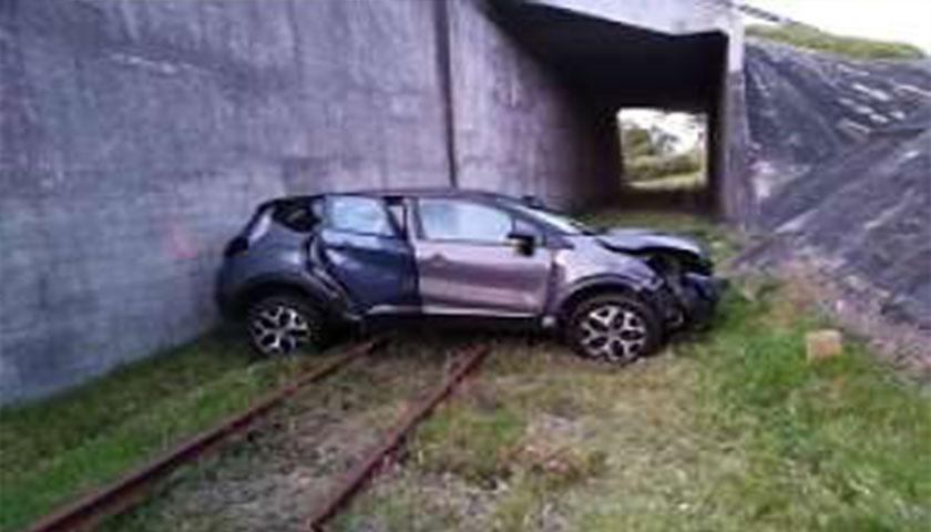 Se accidentó el futbolista Nicolás Schiappacasse; su vehículo cayó de ruta Interbalnearia