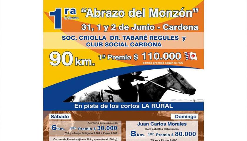 Ruta de la Primera Edición del Raid Abrazo Del Monzon Cardona