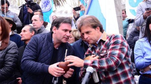 Mate a mate con el candidato a diputado: Colman difunde actividades junto a Lacalle Pou