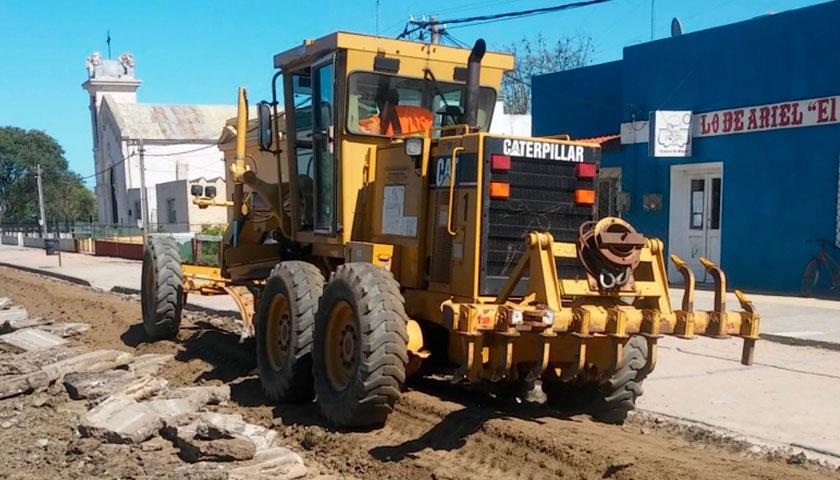 Intendencia de Soriano inició obras de pavimentación en calles de Santa Catalina
