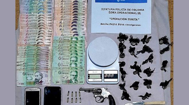 """""""Operación Zurita"""": dos allanamientos y dos detenidos en la ciudad de Carmelo"""