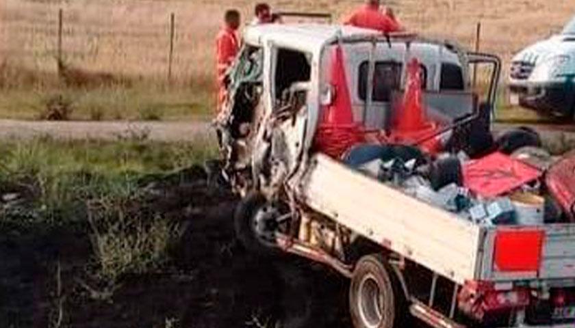 Choque de camiones en Ombúes de Lavalle
