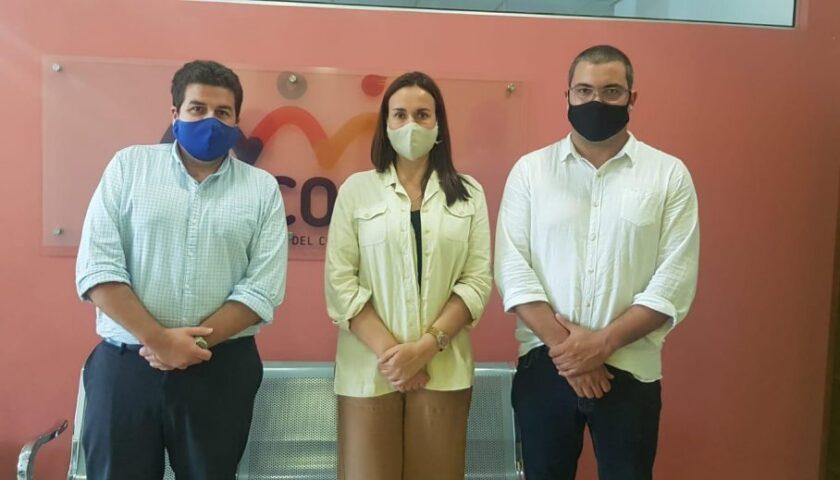 Marcelo Alonso y María de Lima plantearon la instalación de oficina regional de Inacoop en Nueva Helvecia